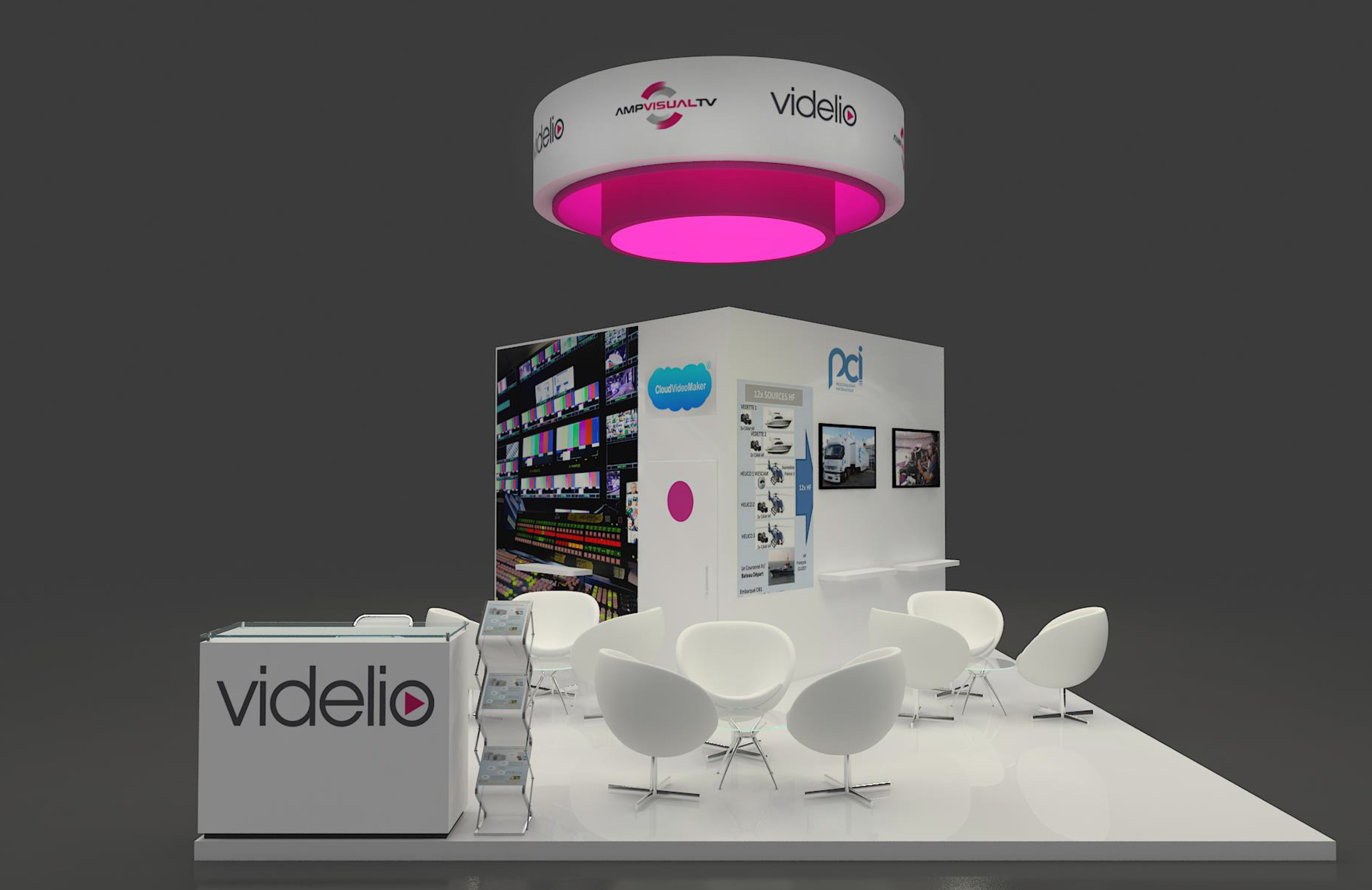 Come and meet videlio and its partners at the cabsat trade for Maquette stand