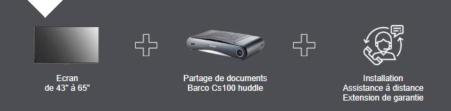 VIDELIO x Barco : Offre Interact'Room avec CS100 Huddle partage écran sur écran salle de réunion