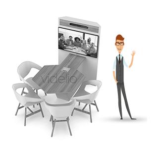 Collab'Packs by VIDELIO : l'offre One Click'Room pour réunion collaborative, accéder sans fil aux équipements écran et barre vidéo
