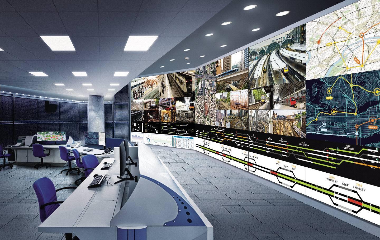VIDELIO x Samsung une salle de contrôle avec un mur d'écrans grand format