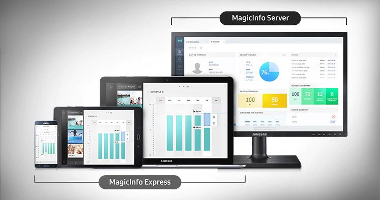 VIDELIO x Samsung présentation de l'interface utilisateur sur PC, tablette et smartphone