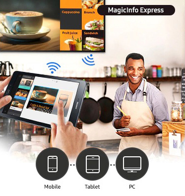 VIDELIO x Samsung affichage dynamique MagicInfo dans un restaurant