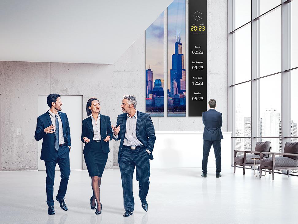 Partenaires VIDELIO x LG écrans affichage atypique Accueil série BH7F