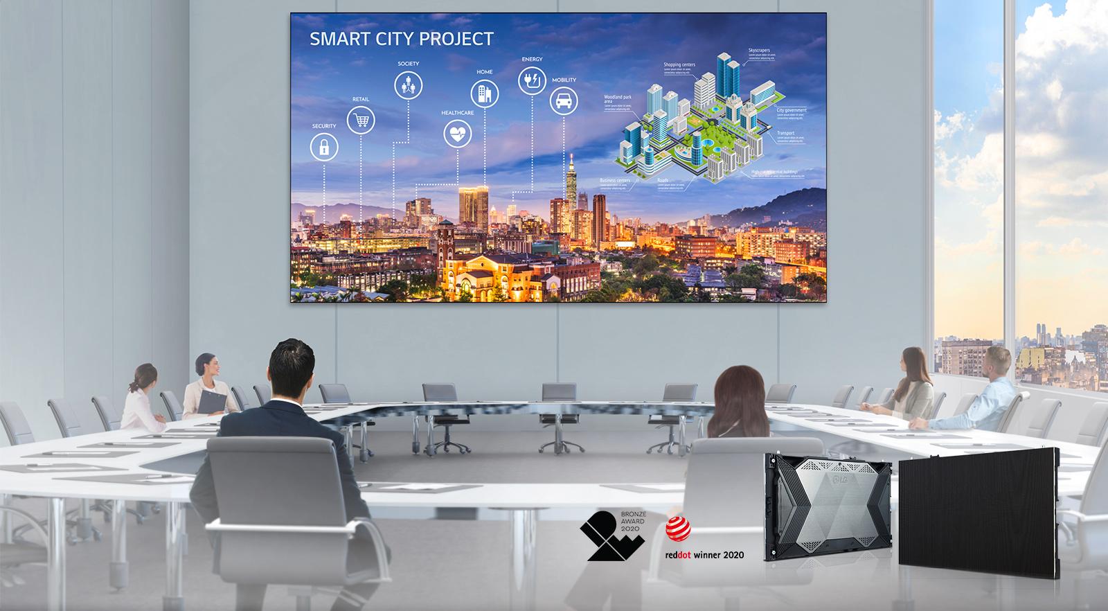 Partenaires VIDELIO x LG écran LED UHD grands espaces série LSAA