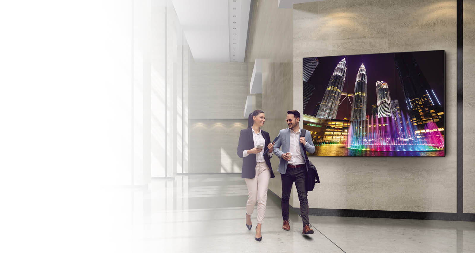 Partenaires VIDELIO x LG Mur d'images technologie OLED